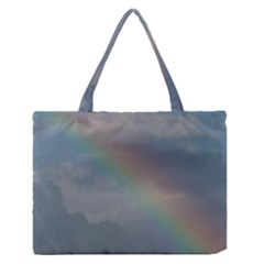 Rainbow in the sky Medium Zipper Tote Bag