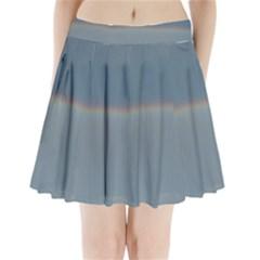 Colorful Rainbow Pleated Mini Skirt