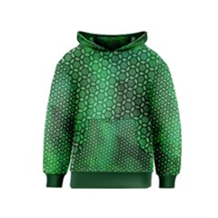 Green Abstract Forest Kids  Pullover Hoodie