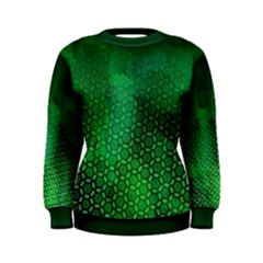 Ombre Green Abstract Forest Women s Sweatshirt