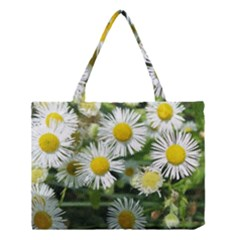 White summer flowers, watercolor painting Medium Tote Bag