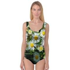 White summer flowers oil painting art Princess Tank Leotard