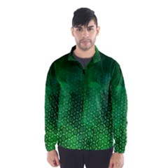 Ombre Green Abstract Forest Wind Breaker (men)