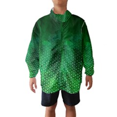 Ombre Green Abstract Forest Wind Breaker (kids)