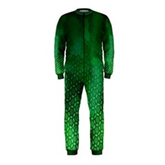 Ombre Green Abstract Forest Onepiece Jumpsuit (kids)