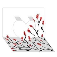 Elegant tree Heart 3D Greeting Card (7x5)