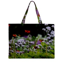 Wild Flowers Medium Zipper Tote Bag