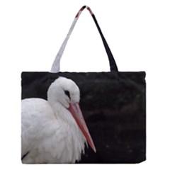 Stork Bird Medium Zipper Tote Bag