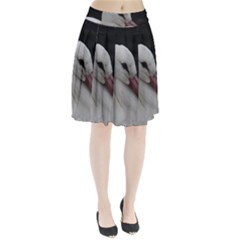 Wild Stork bird Pleated Skirt