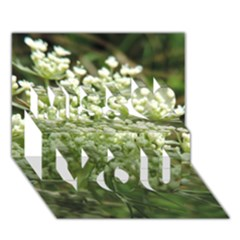 White Summer Flowers Miss You 3d Greeting Card (7x5)