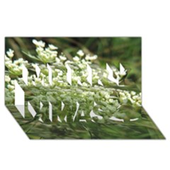 White Summer Flowers Merry Xmas 3d Greeting Card (8x4)