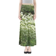White summer flowers Maxi Skirts