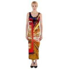 Telephone Box London Night Fitted Maxi Dress