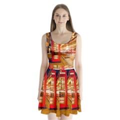 Telephone Box London Night Split Back Mini Dress