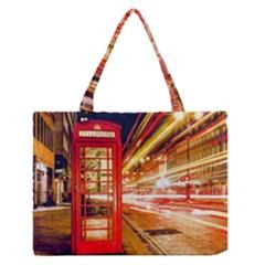 Telephone Box London Night Medium Zipper Tote Bag