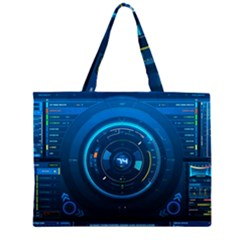 Technology Dashboard Large Tote Bag