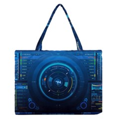 Technology Dashboard Medium Zipper Tote Bag
