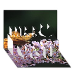 Butterfly Sitting On Flowers Miss You 3d Greeting Card (7x5)