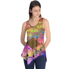Technology Circuit Pentium Die Sleeveless Tunic