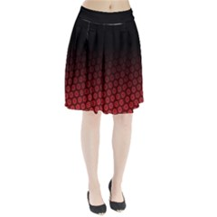 Ombre Black And Red Passion Floral Pattern Pleated Skirt