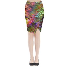 Technology Circuit Computer Midi Wrap Pencil Skirt