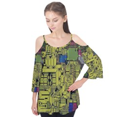 Technology Circuit Board Flutter Tees