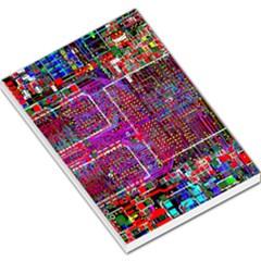 Technology Circuit Board Layout Pattern Large Memo Pads