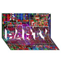 Technology Circuit Board Layout Pattern PARTY 3D Greeting Card (8x4)
