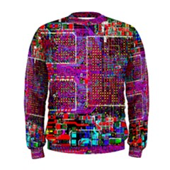 Technology Circuit Board Layout Pattern Men s Sweatshirt