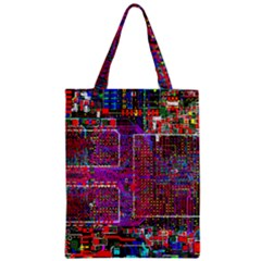Technology Circuit Board Layout Pattern Zipper Classic Tote Bag