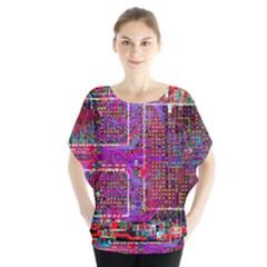 Technology Circuit Board Layout Pattern Blouse