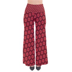 Red Passion Floral Pattern Women s Chic Palazzo Pants
