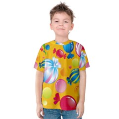 Sweets And Sugar Candies Vector Kids  Cotton Tee