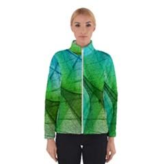 Sunlight Filtering Through Transparent Leaves Green Blue Winterwear