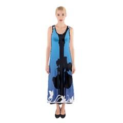 Strawberry Panic Sleeveless Maxi Dress