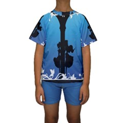 Strawberry Panic Kids  Short Sleeve Swimwear