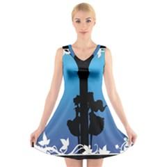 Strawberry Panic V-Neck Sleeveless Skater Dress
