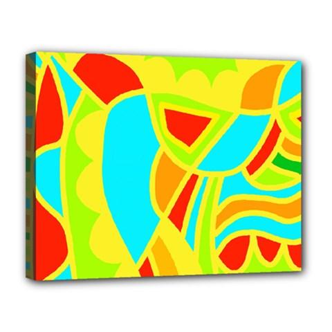 Colorful decor Canvas 14  x 11