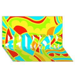 Colorful decor #1 MOM 3D Greeting Cards (8x4)