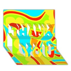 Colorful decor THANK YOU 3D Greeting Card (7x5)