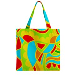 Colorful decor Zipper Grocery Tote Bag