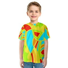 Colorful decor Kids  Sport Mesh Tee