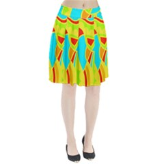 Colorful decor Pleated Skirt