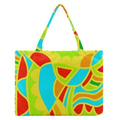 Colorful Decor Medium Zipper Tote Bag