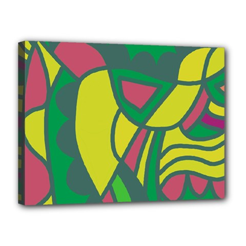 Green abstract decor Canvas 16  x 12