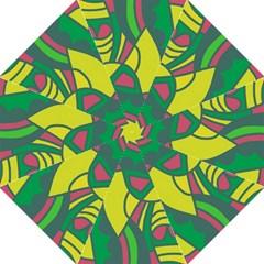 Green abstract decor Folding Umbrellas