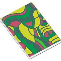 Green abstract decor Large Memo Pads