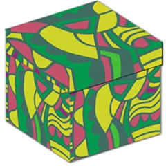 Green abstract decor Storage Stool 12