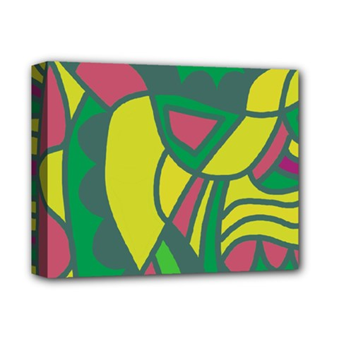Green abstract decor Deluxe Canvas 14  x 11