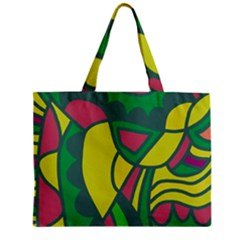 Green abstract decor Zipper Mini Tote Bag